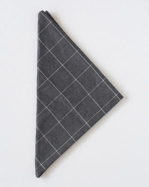 The Bandana | Charcoal Windowpane