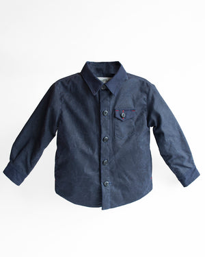 Kids Navy Jacket | Hopper Hunter | Front