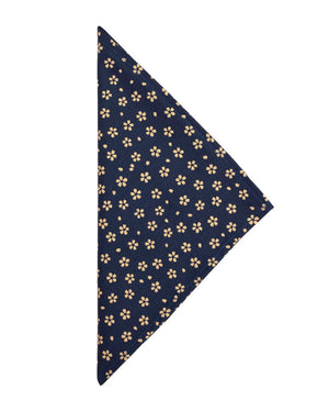 Bandana | Blue/Cream Flowers