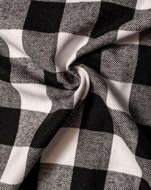 Fabric | Black/White Check Flannel