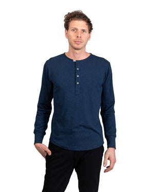 Heritage Henley | Midnight Hemp/Organic Cotton