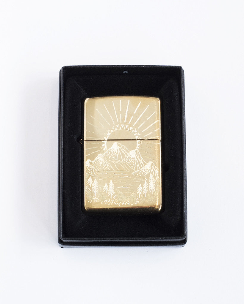 Mountain view in Brass Lighter