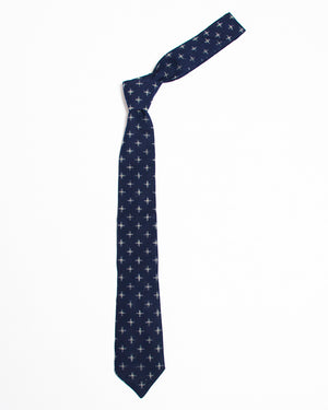 The Tie | Indigo Crosshatch