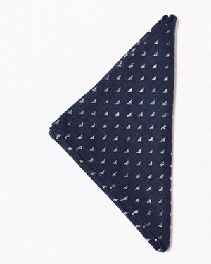 Pocket Square | Indigo Triangles