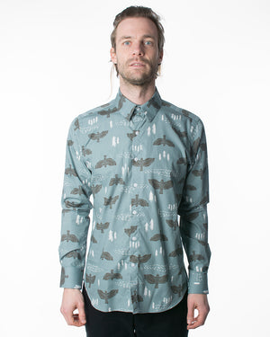 Pattern Button Up Shirt | 18 Waits | Front