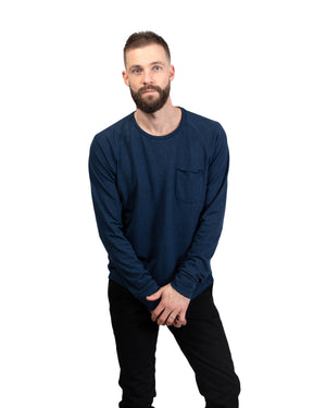 Raglan Pocket T | Midnight Hemp/Organic Cotton