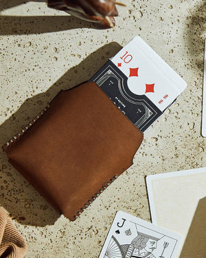 Leather Card Sleeve for Playing Cards