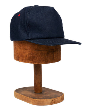 Casey Jones Cap | Raw Indigo Denim