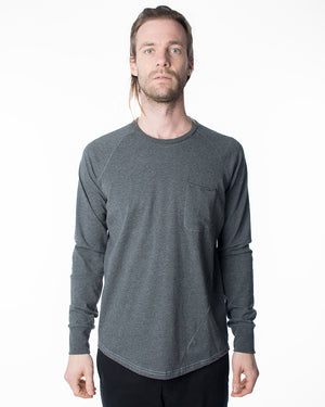Grey Pocket Tee | 18 Waits | Front