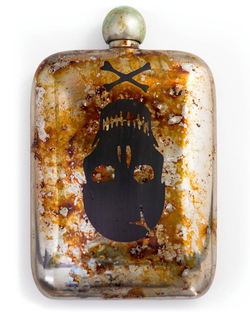 Sneerwell Flask | Old Roger Tarnished | Front