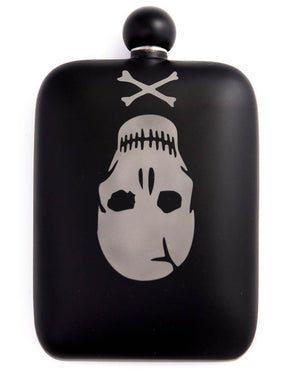 Sneerwell Flask | Old Roger Matte Black | Front