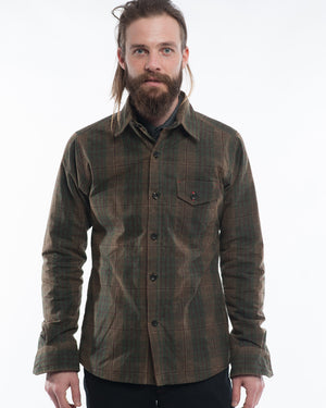 Mens Olive Jacket | 18 Waits | Front | Closed
