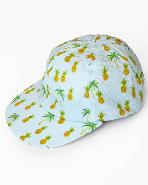 Hopper Hunter | The Cap | Light Blue Pineapples