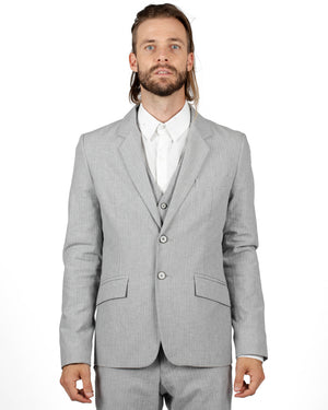 Blazer | Light Grey Herringbone