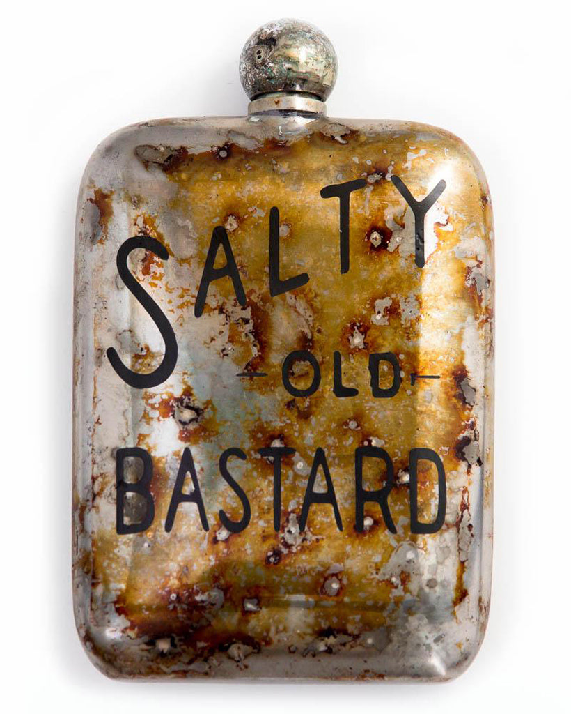 Sneerwell Flask | Salty Old Bastard Tarnished | Front