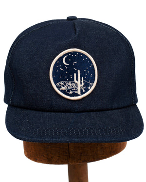 Denim Patch Caps | Moonlight