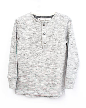Kids Grey Long Sleeve | Hopper Hunter | Front