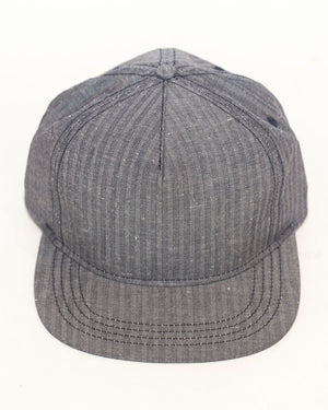 Casey Jones Cap | Blue Herringbone