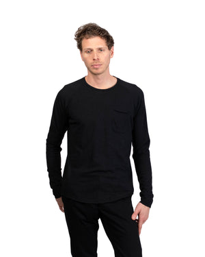 Raglan Pocket T | Raven Hemp/Organic Cotton
