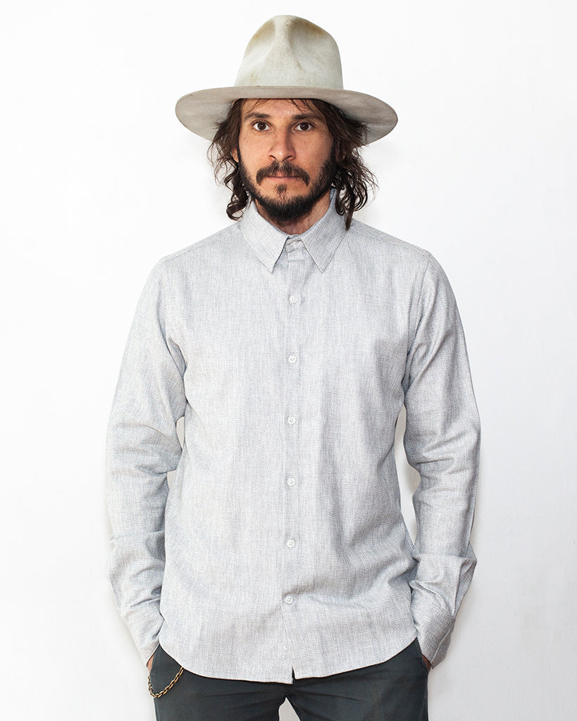Small Batch | White Melange Dylan Shirt
