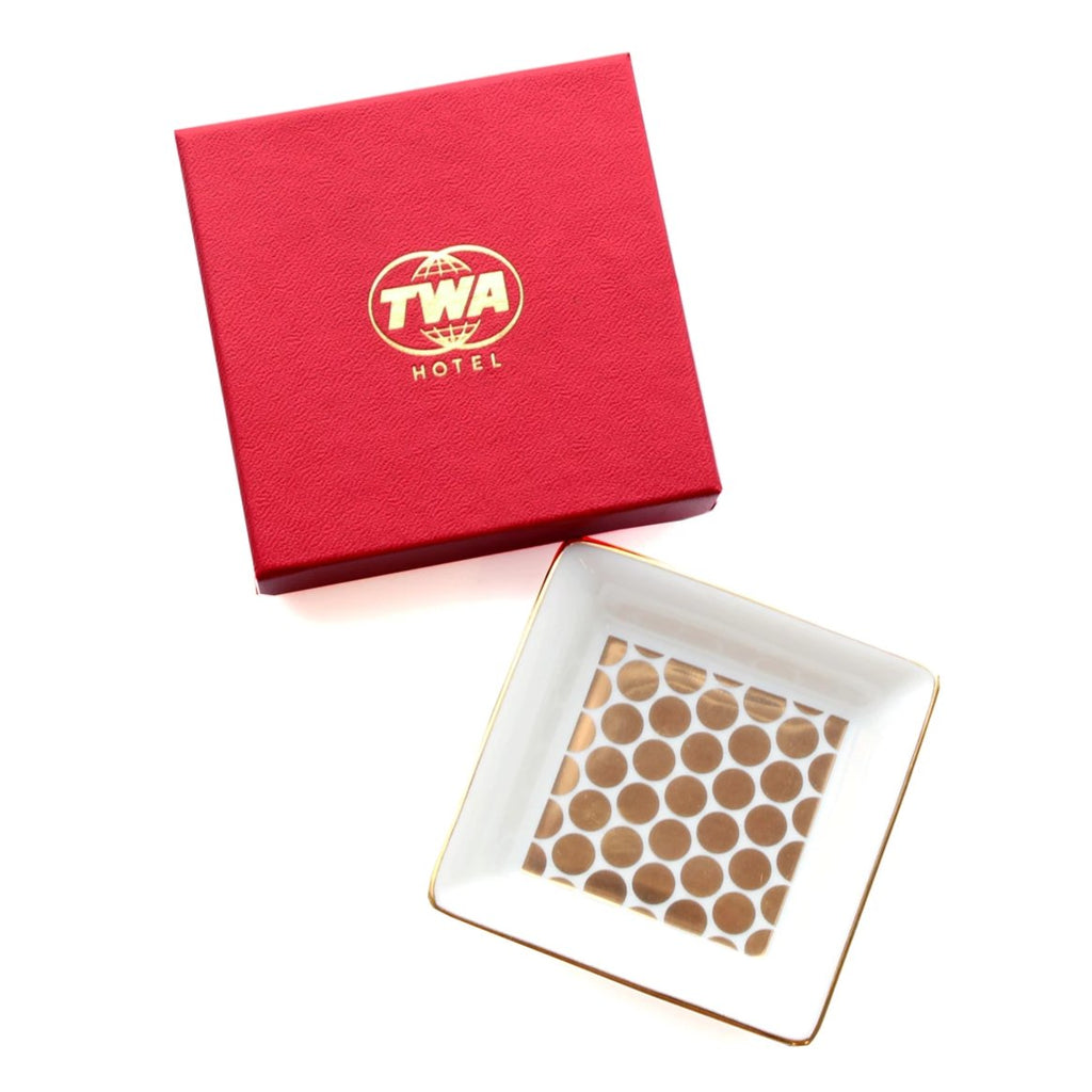 TWA Penny Tile Tray with Red Box