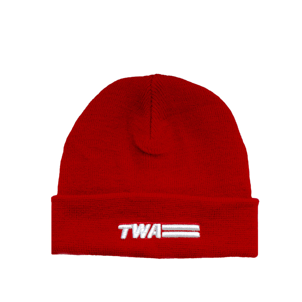 TWA Red Beanie with Patch
