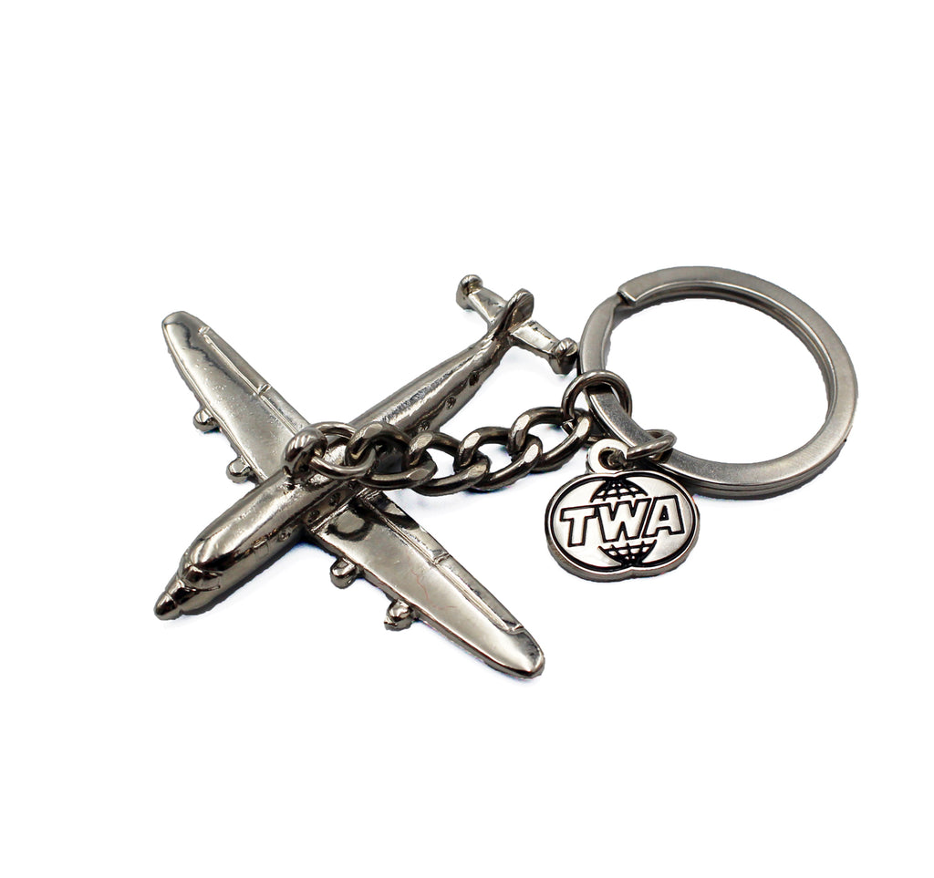 TWA Connie Nickel Keychain