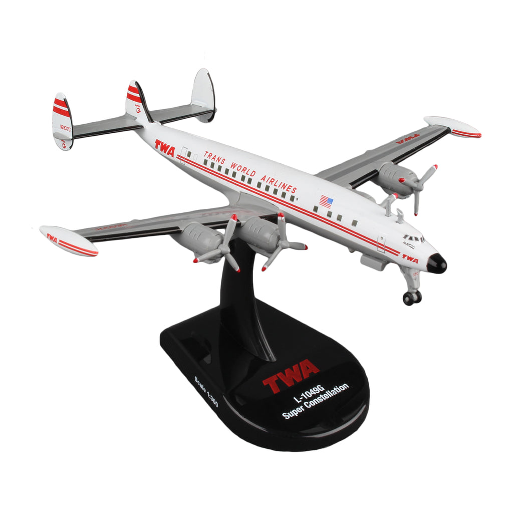 TWA Lockheed Super Constellation Airplane Model