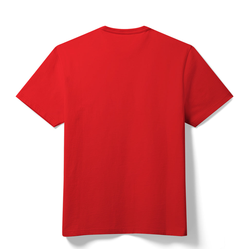 Crewneck T-Shirt Red Back (Unisex)