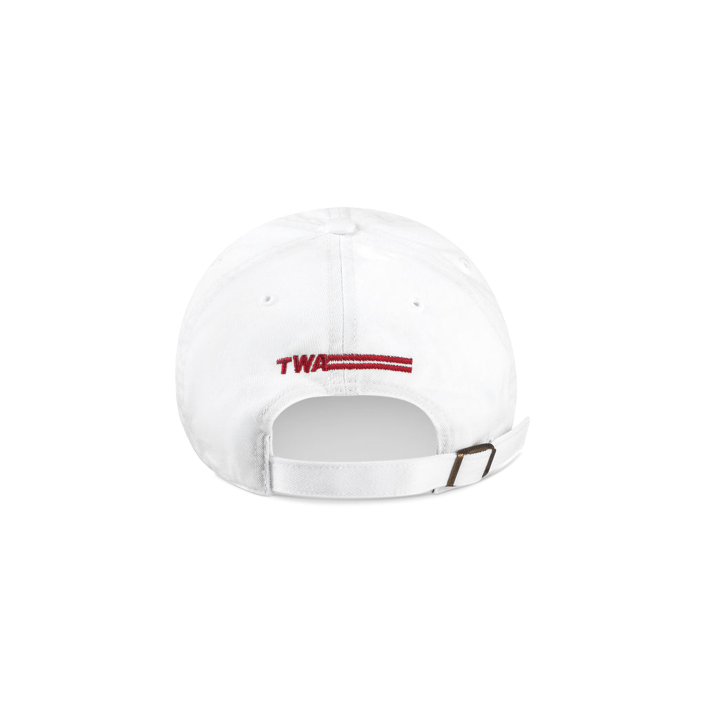 TWA Baseball Cap White Back