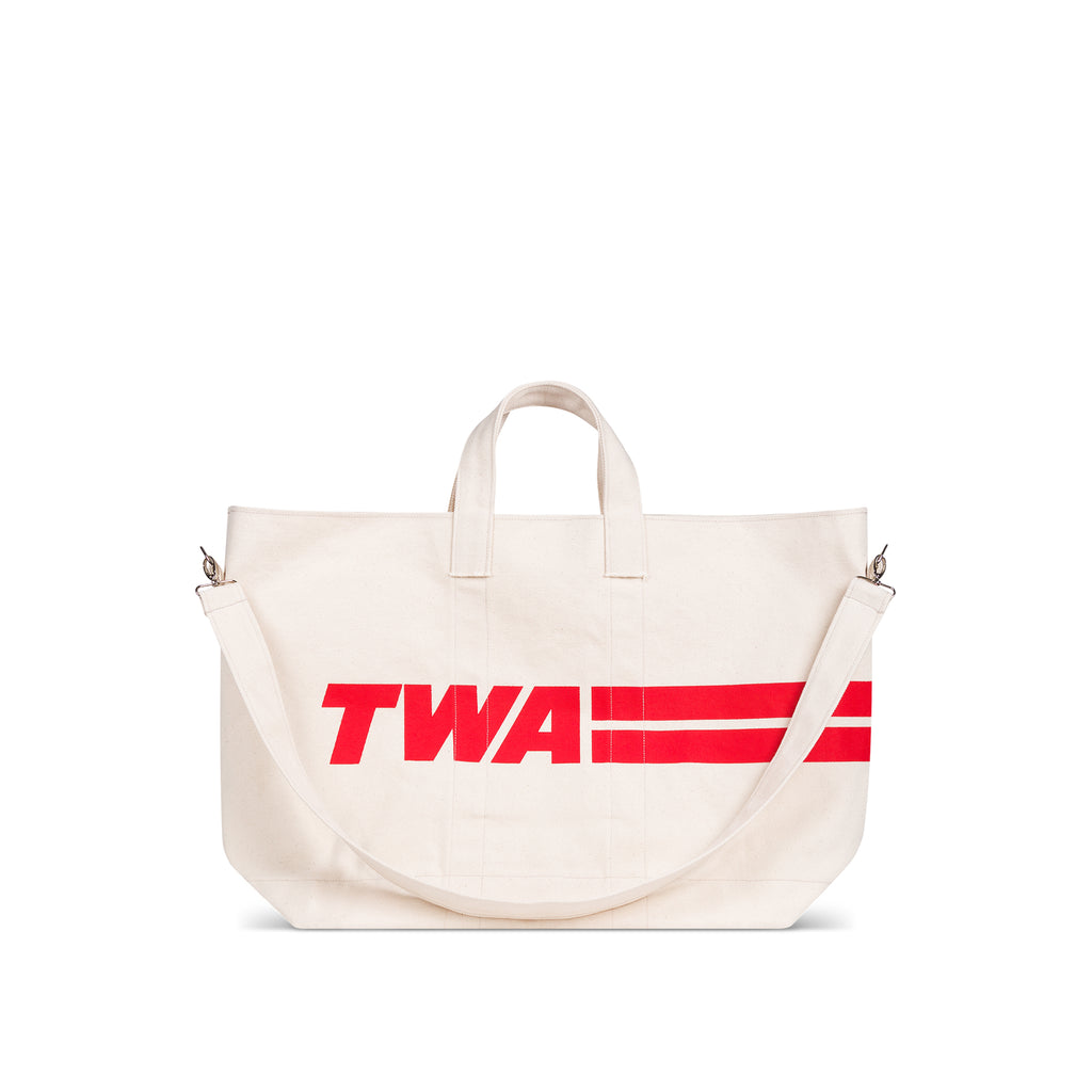 TWA canvas pool tote