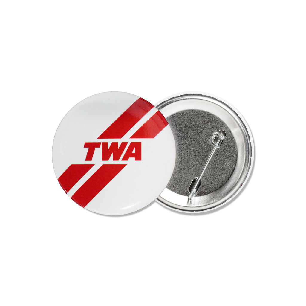 TWA STRIPED METAL BUTTON