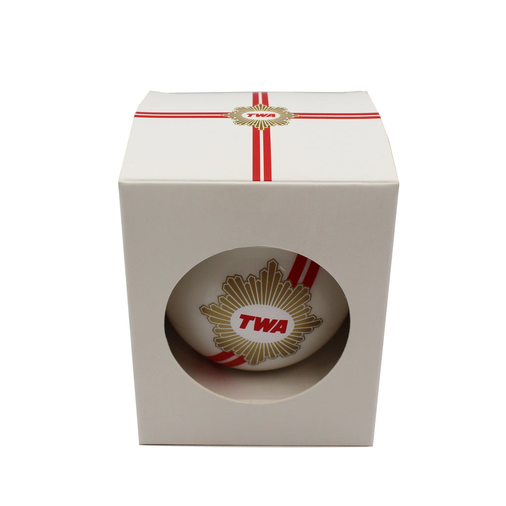 White TWA ornament in gift box