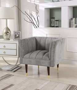Iconic Home Agatha Naomi Viva Alma Marisol Clam Shell Accent Club Chair Grey Main Image