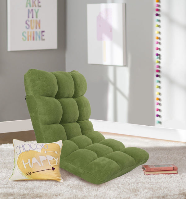 Iconic Home Daphene Rebecca Clover Esme Cordelia Adjustable Recliner Rocker Memory Foam Armless Floor Gaming Ergonomic Chair Green Main Image