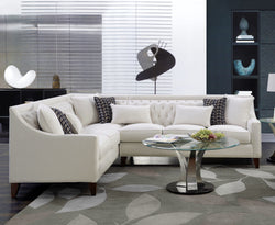 Iconic Home Aberdeen Aurora Vesta Fulla Orion Linen Tufted Left Facing Sectional Sofa Cream Main Image Cream