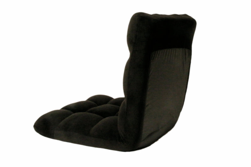 Iconic Home Daphene Adjustable Recliner Rocker Memory Foam Floor Ergonomic Gaming Chair Black