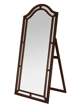 Iconic Home Berlin Kali Pax Gale Perzsi Floor Mirror Free Standing Satin Finish Traditional Espresso Main Image
