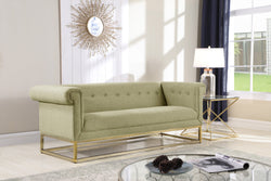 Iconic Home Palmira Penelope Cassandra Gloria Paloma Button Tufted Rolled Arm Sofa Beige Main Image