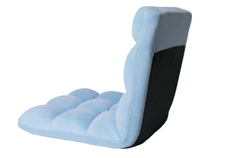 Iconic Home Daphene Adjustable Recliner Rocker Memory Foam Floor Ergonomic Gaming Chair Blue