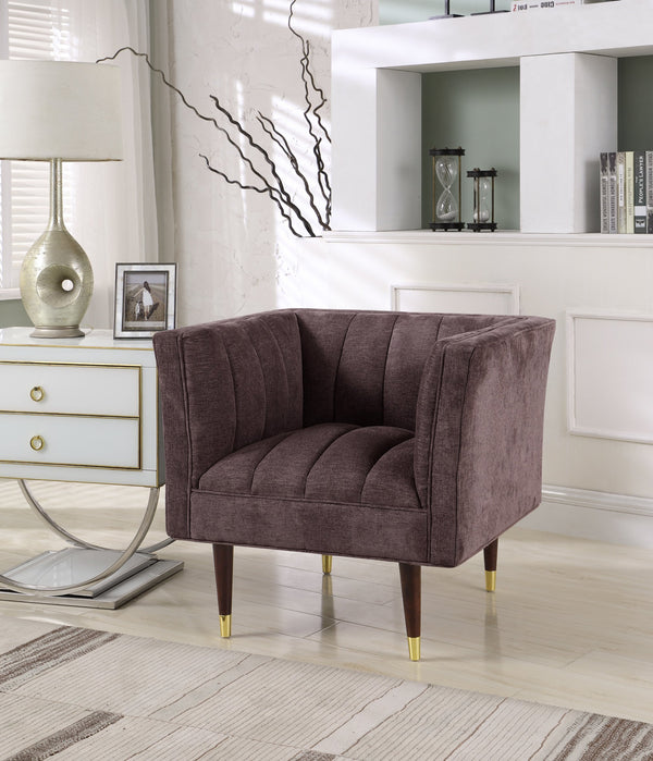 Iconic Home Agatha Naomi Viva Alma Marisol Clam Shell Accent Club Chair Purple Main Image