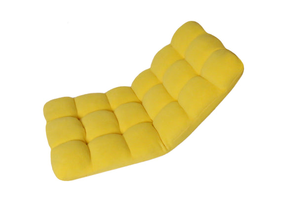 Iconic Home Daphene Adjustable Recliner Rocker Memory Foam Floor Ergonomic Gaming Chair Yellow