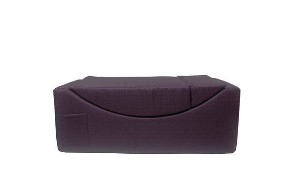 Iconic Home Enzyme Faux Linen Recliner Accent Chair Ottoman Bench Purple