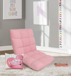 Iconic Home Daphene Rebecca Clover Esme Cordelia Adjustable Recliner Rocker Memory Foam Armless Floor Gaming Ergonomic Chair Pink Main Image