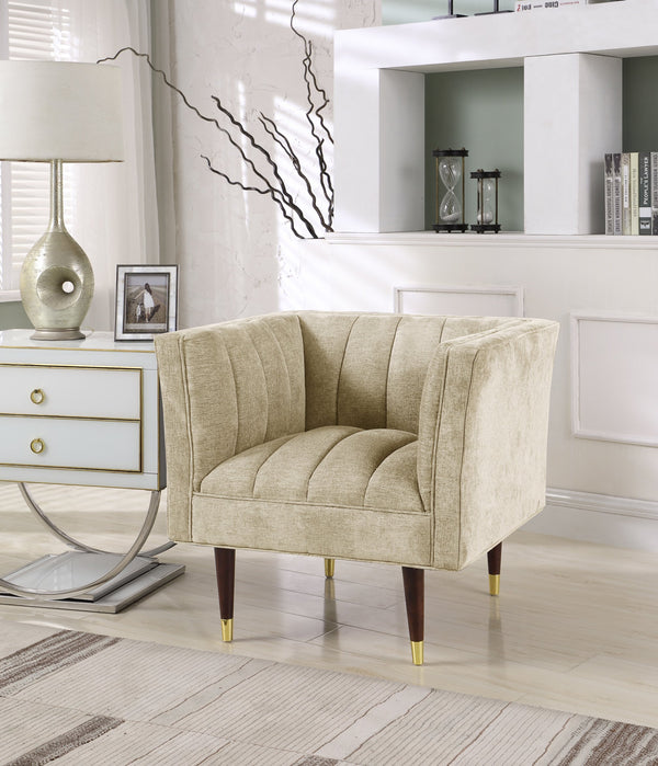 Iconic Home Agatha Naomi Viva Alma Marisol Clam Shell Accent Club Chair Gold Main Image