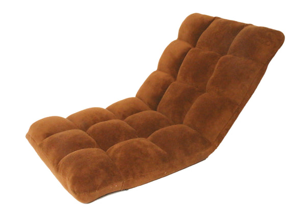 Iconic Home Daphene Adjustable Recliner Rocker Memory Foam Floor Ergonomic Gaming Chair Brown