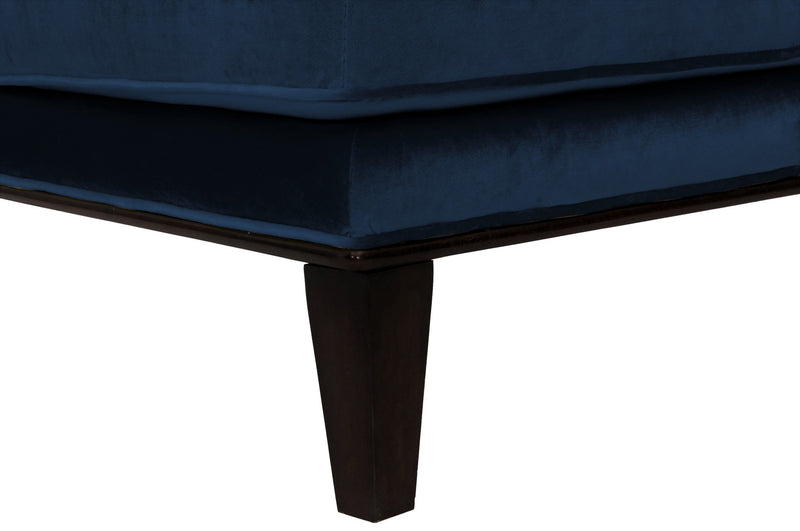 Iconic Home Achilles Armless Velvet Tufted Slipper Accent Club Chair Navy
