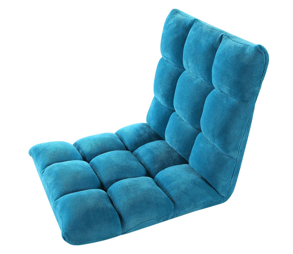 Iconic Home Daphene Adjustable Recliner Rocker Memory Foam Floor Ergonomic Gaming Chair Teal