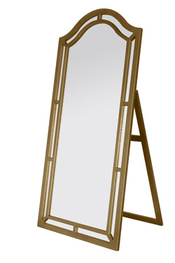 Iconic Home Berlin Kali Pax Gale Perzsi Floor Mirror Free Standing Satin Finish Traditional Gold Main Image