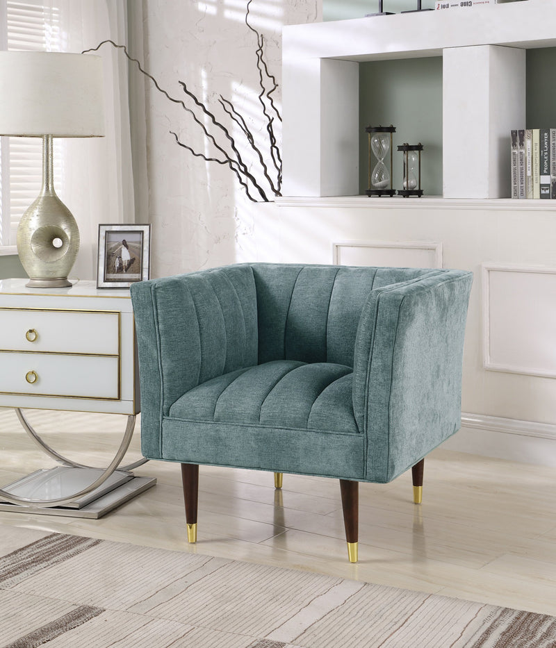 Iconic Home Agatha Naomi Viva Alma Marisol Clam Shell Accent Club Chair Teal Main Image